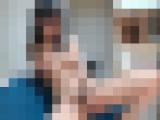 色白美巨乳な黒髪JDがディルドと電マでイク!ライブオナニー